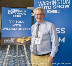 William West Hopper, VIP Tour Guide at the 2019 Washington DC Auto Show. Photo by Bonnie M. Moret
