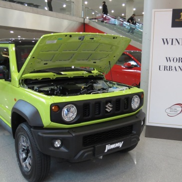 Suzuki Jimny with hood up is World Car of the Year Urban Car Winner in NYC