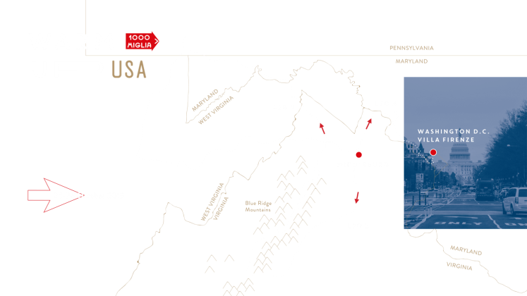 1000 Miglia Warm Up USA 2019 Virginia Route Map
