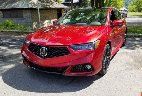 Red 2019 Acura TLX A-Spec