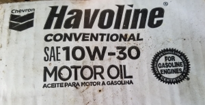 Havoline Motor Oil from Chevron with API Starburst