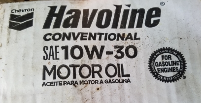 Havoline Motor Oil from Chevron with API Starburst