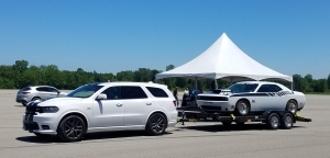 Dodge Durango towing a Challenger ScatPack