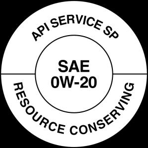 API SP Service Symbol Donut 0W20