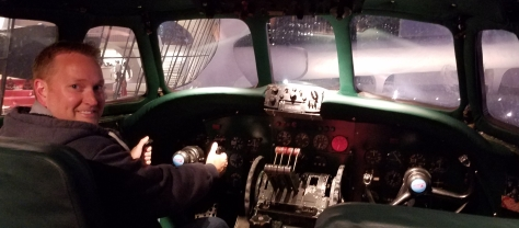 Officer Matt in the Cockpit of a Connie
