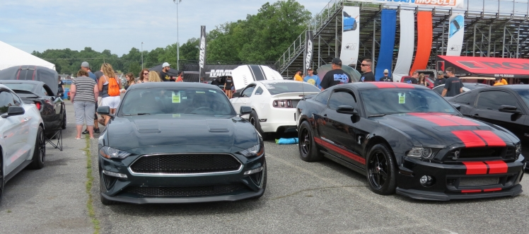 Front of Ford Mustang Bullitt MP002 at the American Muscle Mustang Show 2019