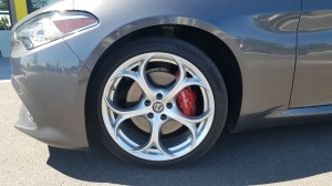 Alfa Romeo Giulia with 19 Inch Wheels and Brembo Brake Calipers