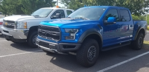 Ford Raptor Pickup with Chevrolet Silverado