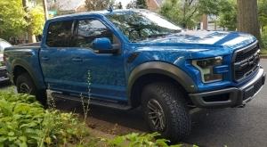2019 Ford Raptor Pickup in Velocity Blue