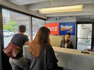 Rental Car Desk for Avis Budget