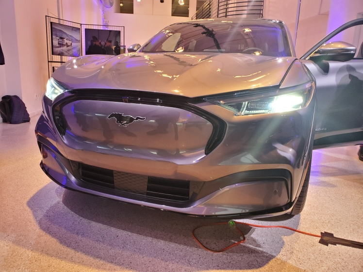 Ford Mach-E front Grill at the Nov 2019 NYC Media Launch