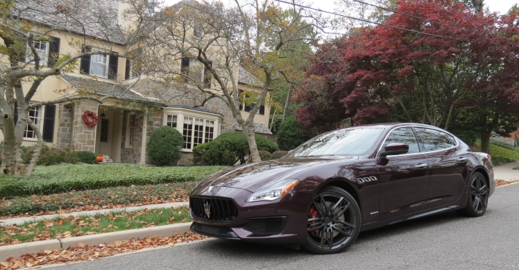 Maserati Quattroporte in front of a NW Washington DC home