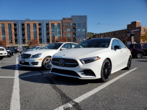 Mercedes Benz A220 and C350 in white