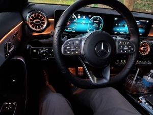 64-color LED ambient lighting in the mercedes benz a220