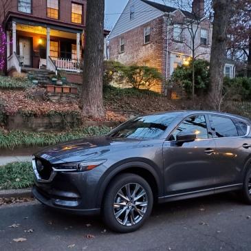 Mazda CX5 Signature AWD at dusk in Washington DC