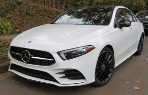 2019 Mercedes Benz A 220 Sedan in White with Black AMG Wheels