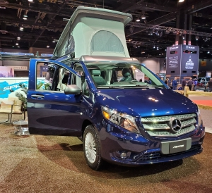 Mercedes Benz Metris Weekender Van on display at the Chicago Auto Show