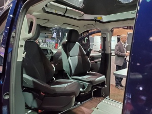 Front Seats of the Mercedes Benz Metris Weekender Camper Van