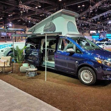 Mercedes Benz Metris Weekender Camper Van at the chicago auto show