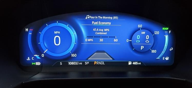 2020 Ford Escape Hybrid Dash Display