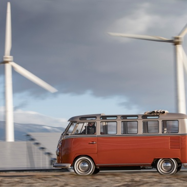 Volkswagen e-BULLI EV concept takes a classic VW Bus and makes it Electric