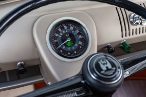 VW eBULLI Concept Electric VW Bus Dashboard with speedometer and display