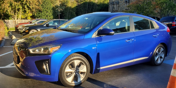 2019 Hyundai Ioniq Electric in Electric Blue