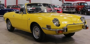 Yellow Fiat 850 Spider