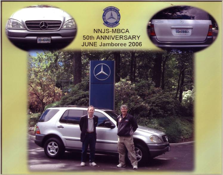 Silver 1997 Mercedes Benz ML320 at MBUSA Headquarters in New Jersey