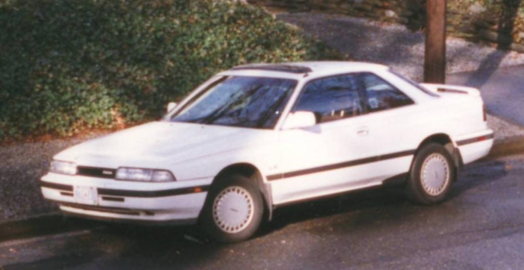 White 1989 Mazda MX 6 LX