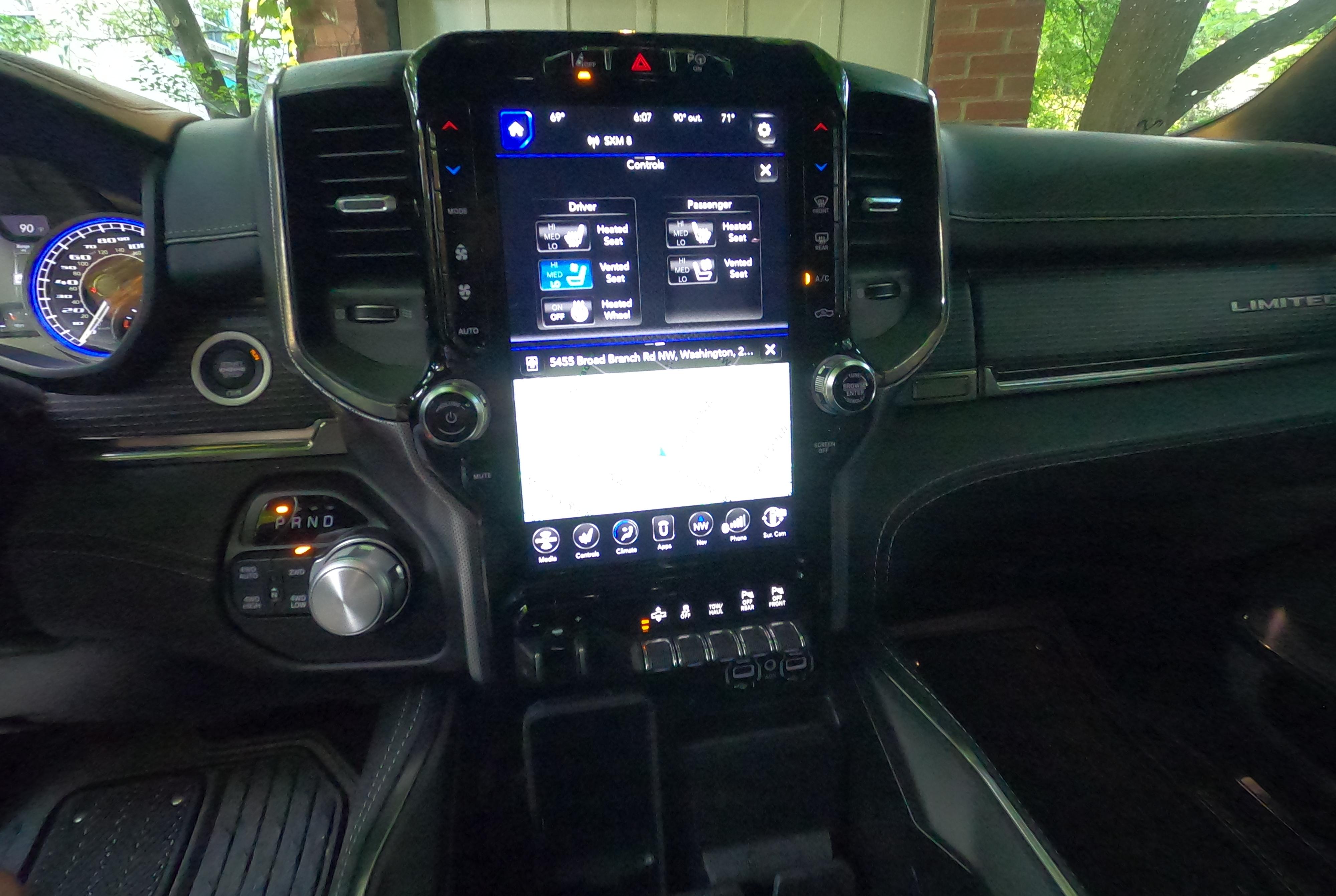 2020 Ram 1500 twelve inch center screen