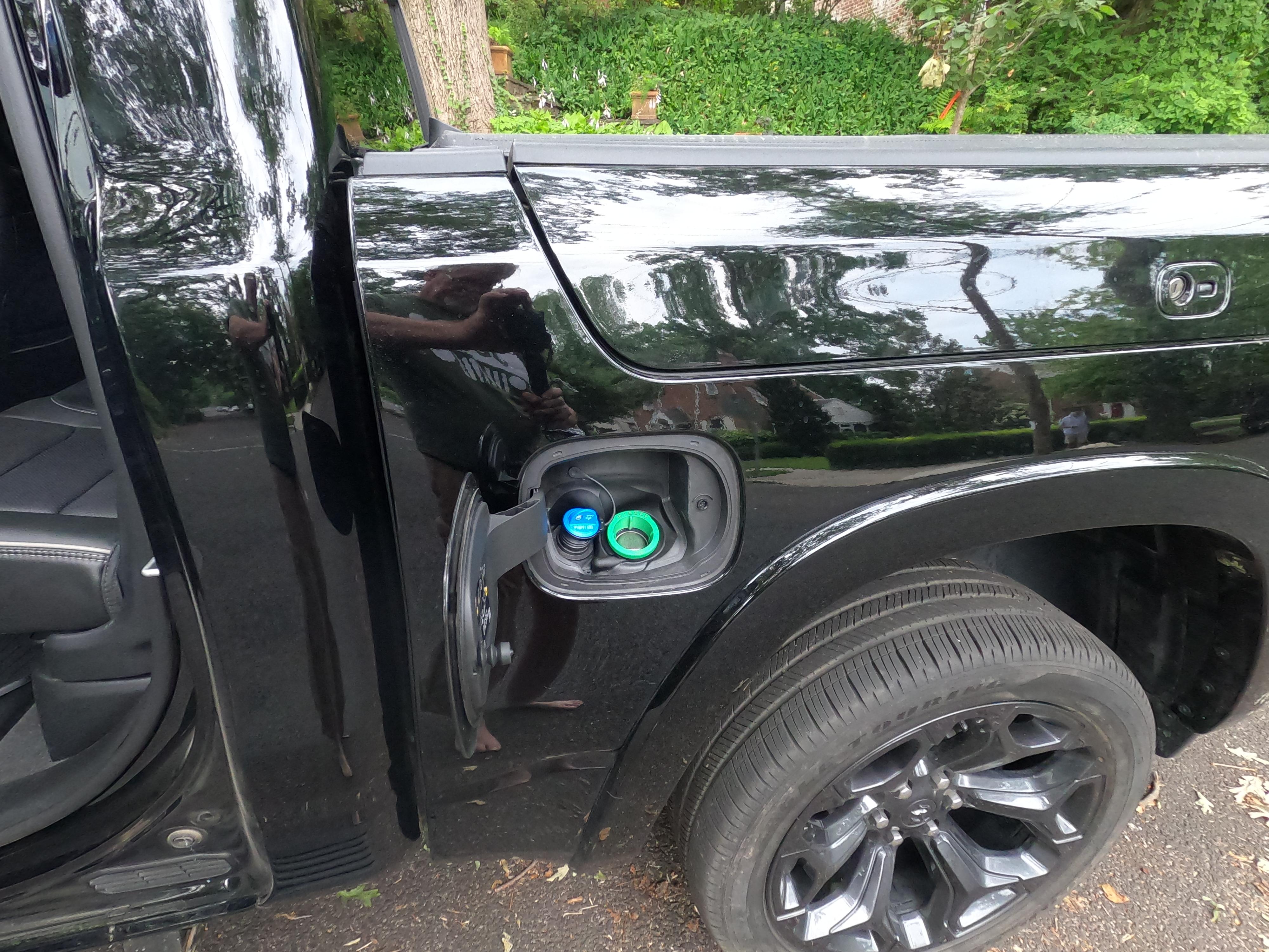 Ram 1500 Eco Diesel Fuel Door with Dif and Diesel fuel filler tubes