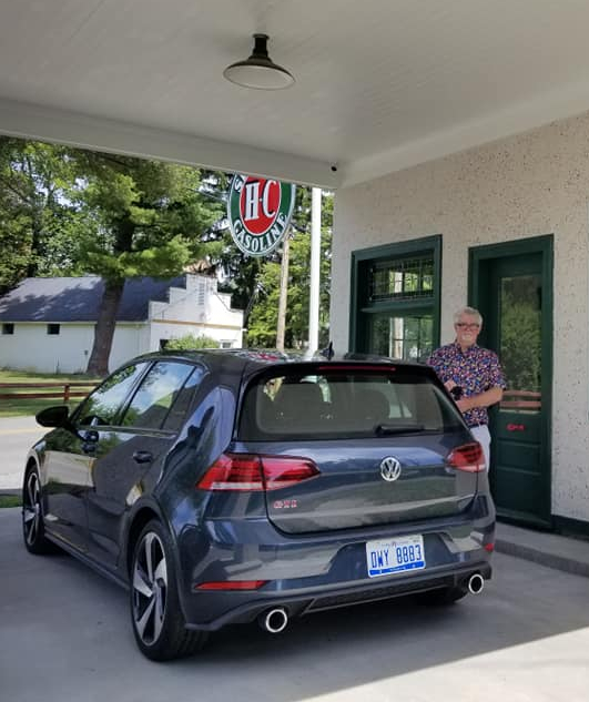 William West Hopper with the 2020 VW GTI