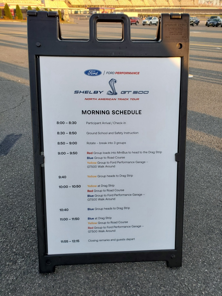 SHELBY GT 500 North American Track Tour Schedule