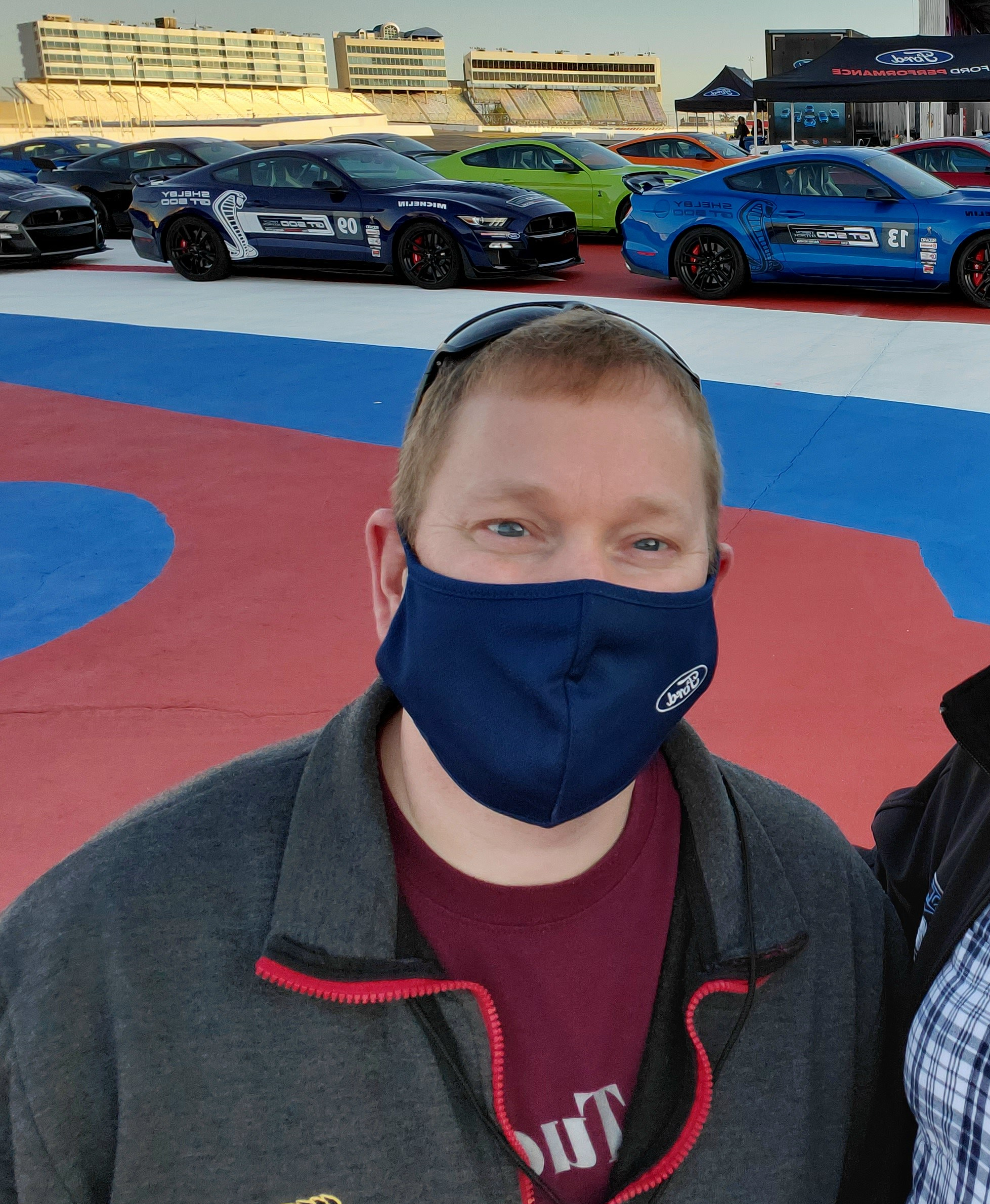 Ofc. Matt at the SHELBY GT 500 North American Track Tour in Charlotte North Carolina, Oct 19 2020