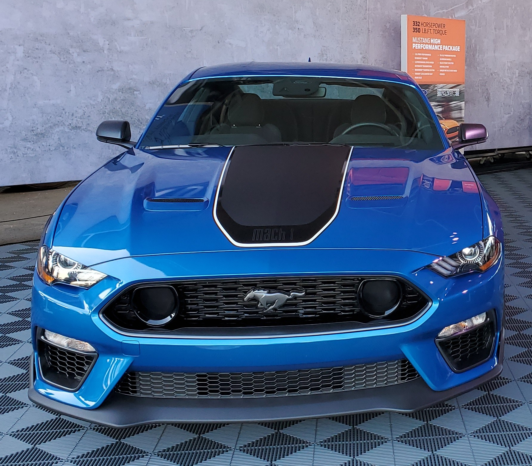 The 2021 Mach1 Mustang from Ford on display a the 2020 SHELBY GT 500 North American Track Tour in Charlotte NC