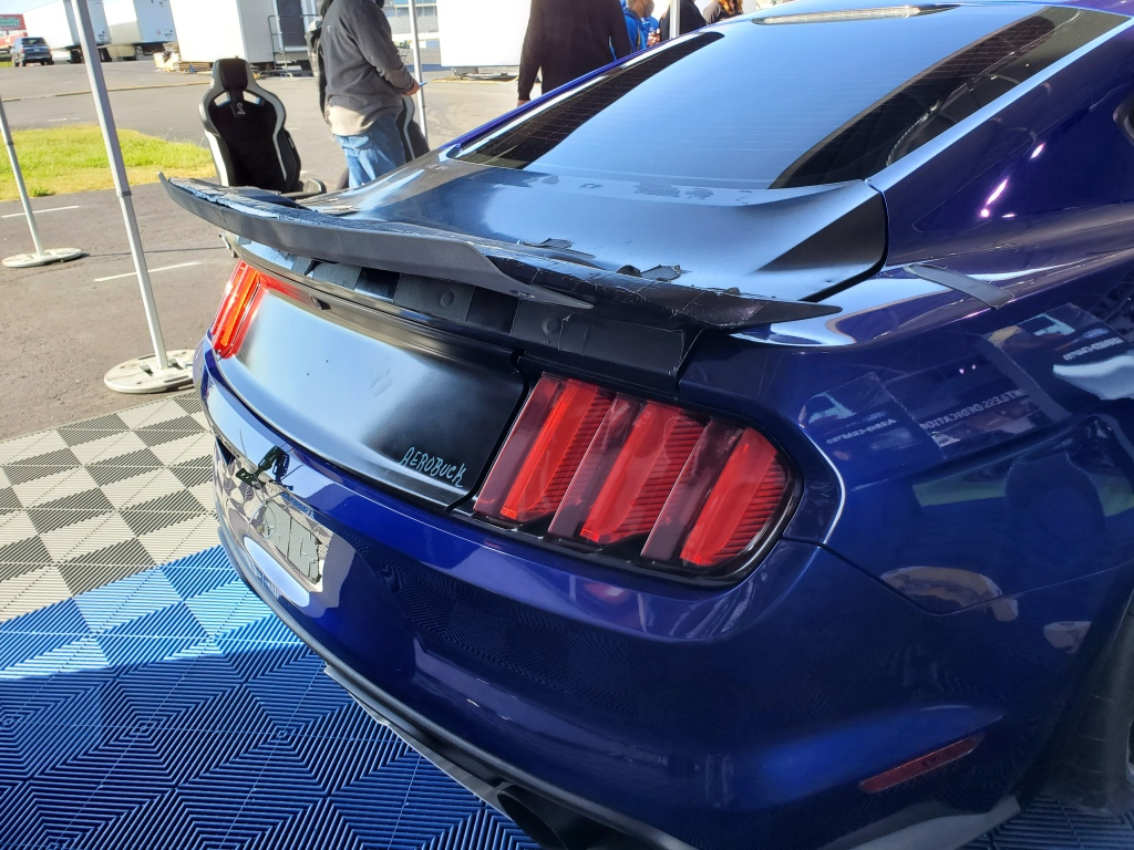 Ford used 3-d printers to build test parts for the GT 500 like the spoiler on this model.