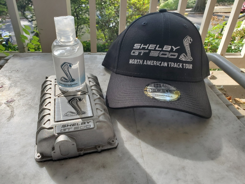 Swag from the SHELBY GT 500 North American Track Tour.
