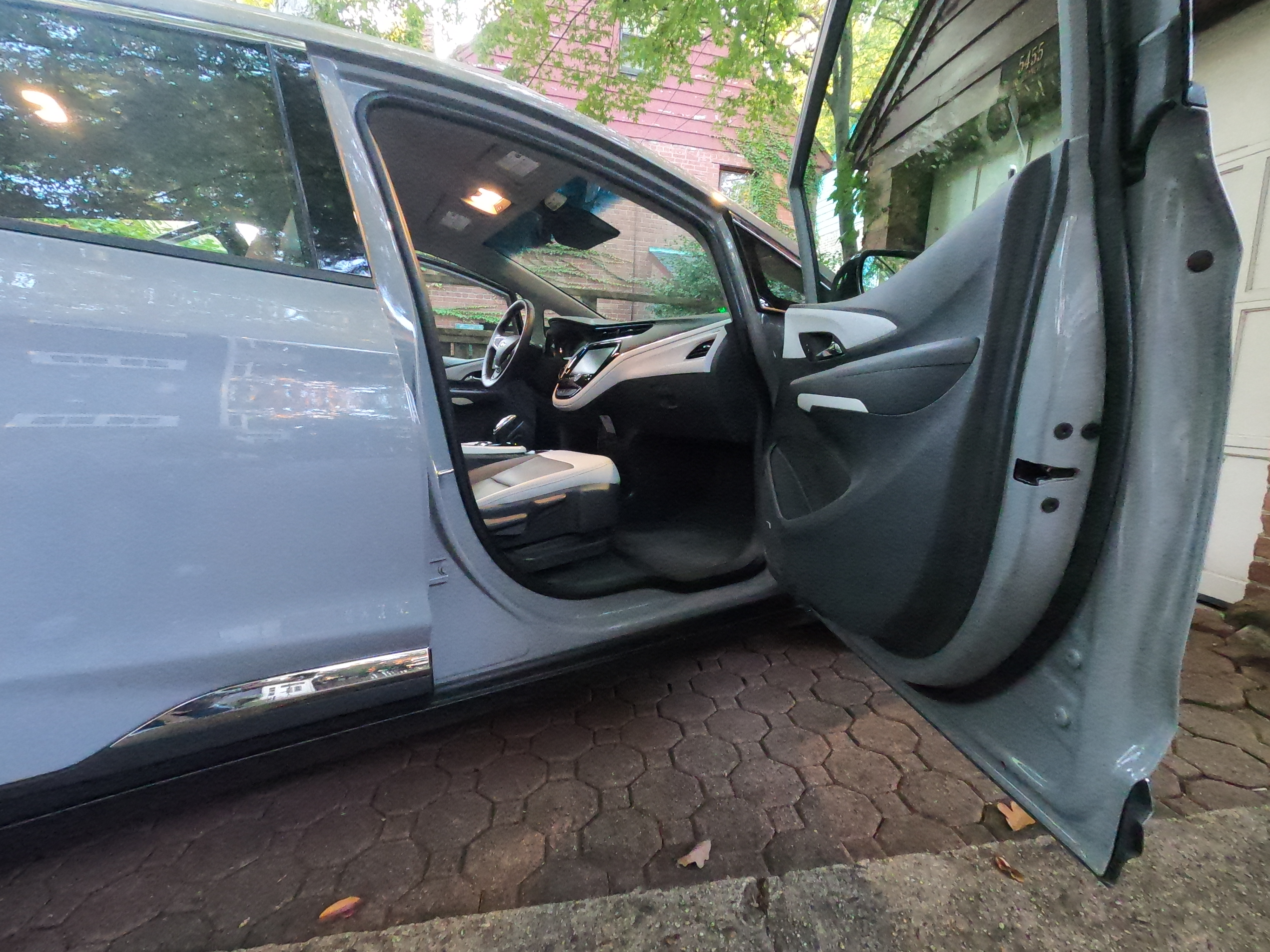Chevrolet Bolt EV right door open looking inside