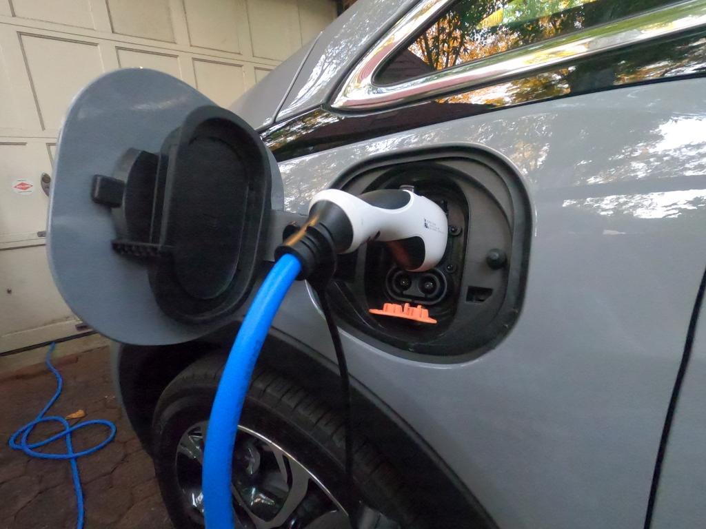 Chevrolet Bolt EV Charging Port exposed DC charging point