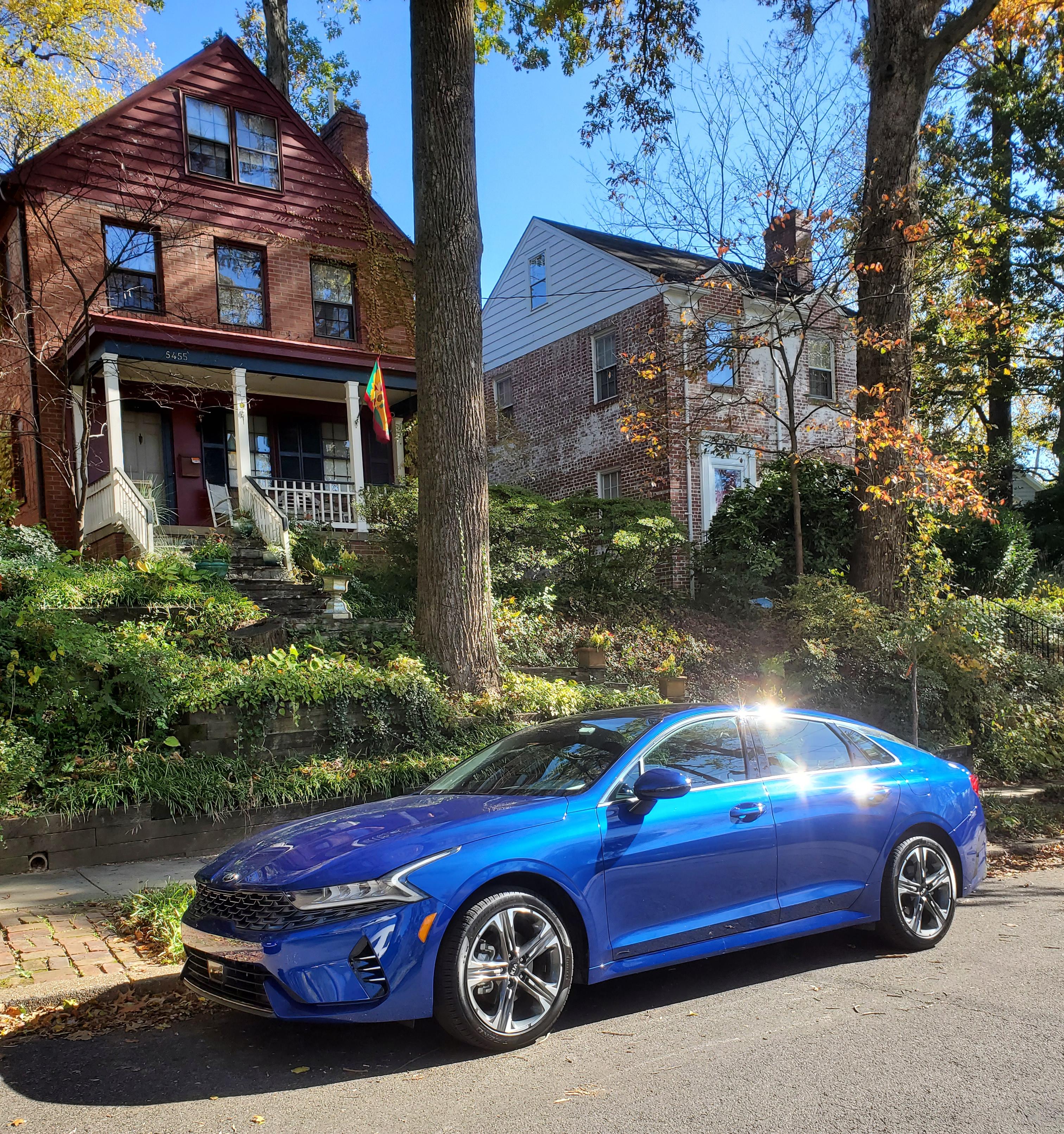 2021 Kia K5 LXS in Sapphire Blue in NW Washington DC