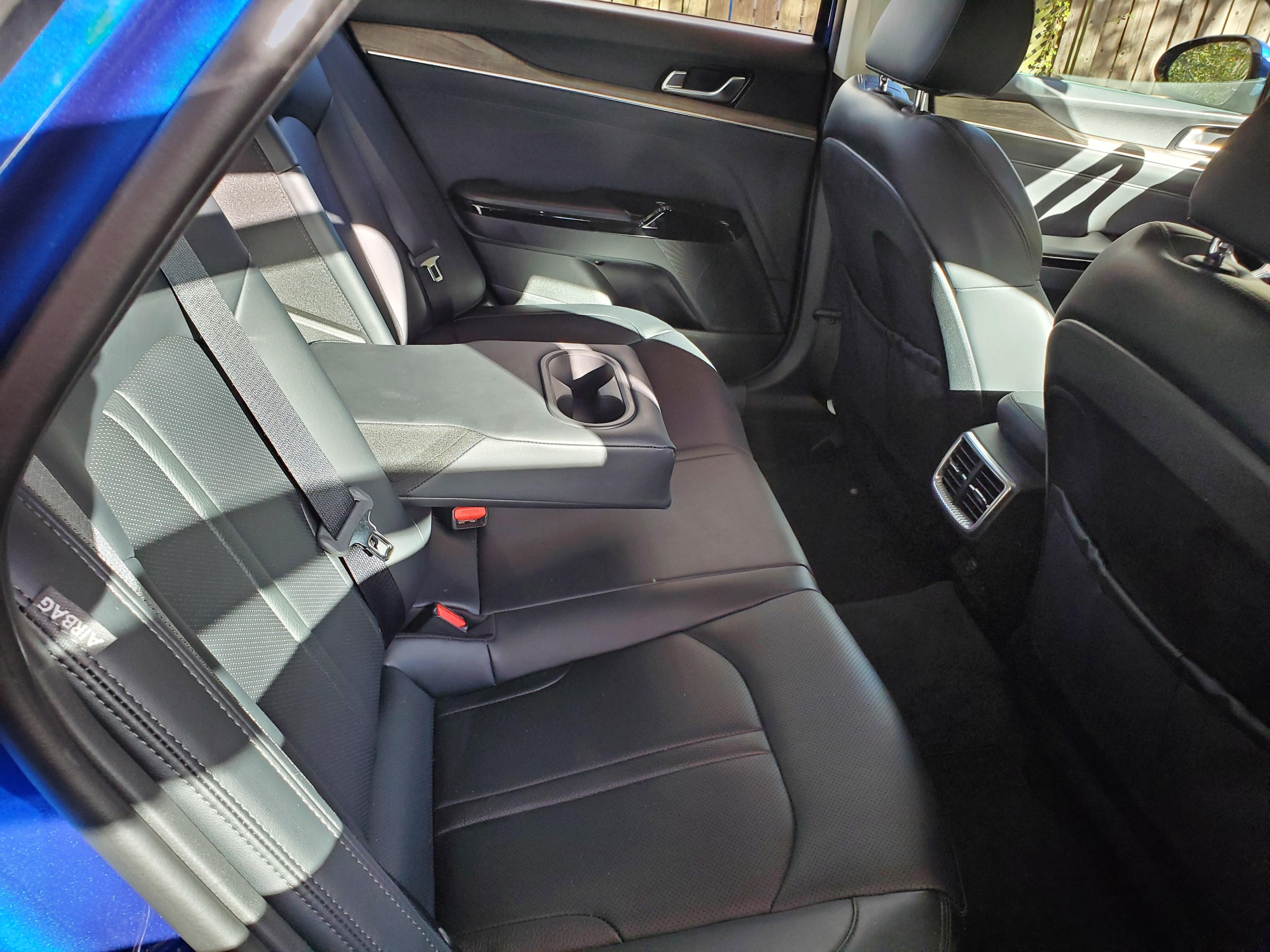Rear seating in the 2021 Kia K5