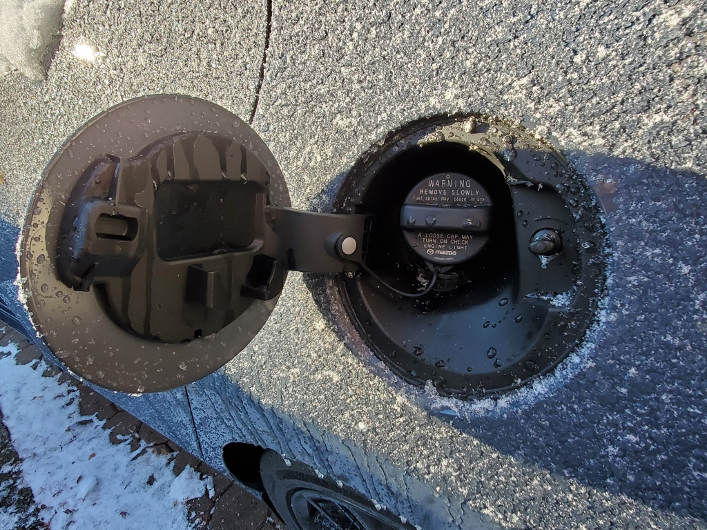 Mazda3 Fuel Filler Door Open