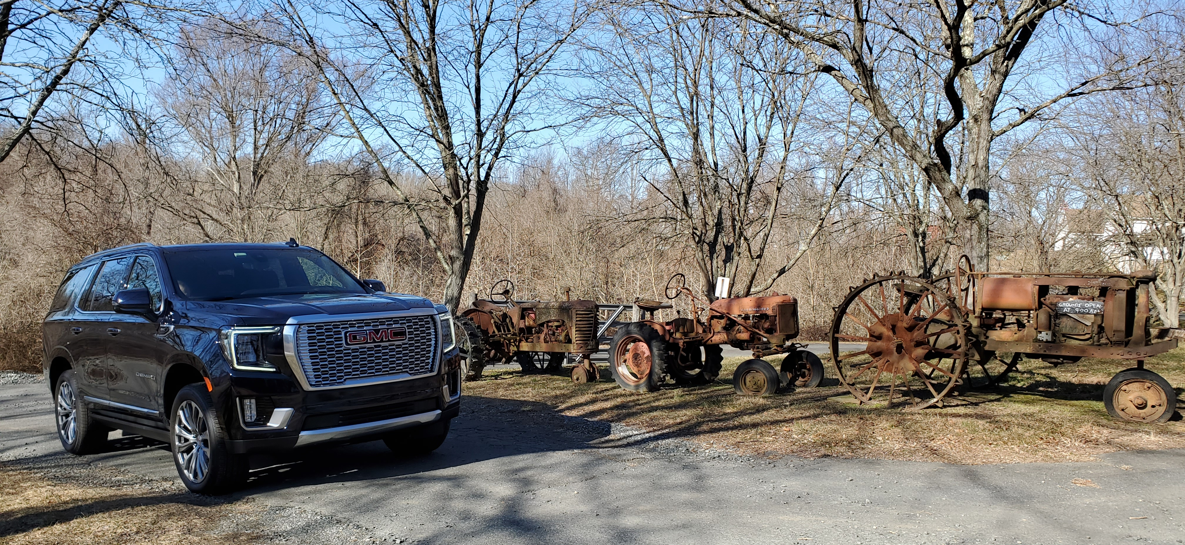 2021 GMC Yukon Denali with old tractors
