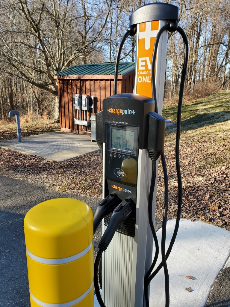 Chargepoint EV Charger at Conowingo Swimming Pool in Harford County MD