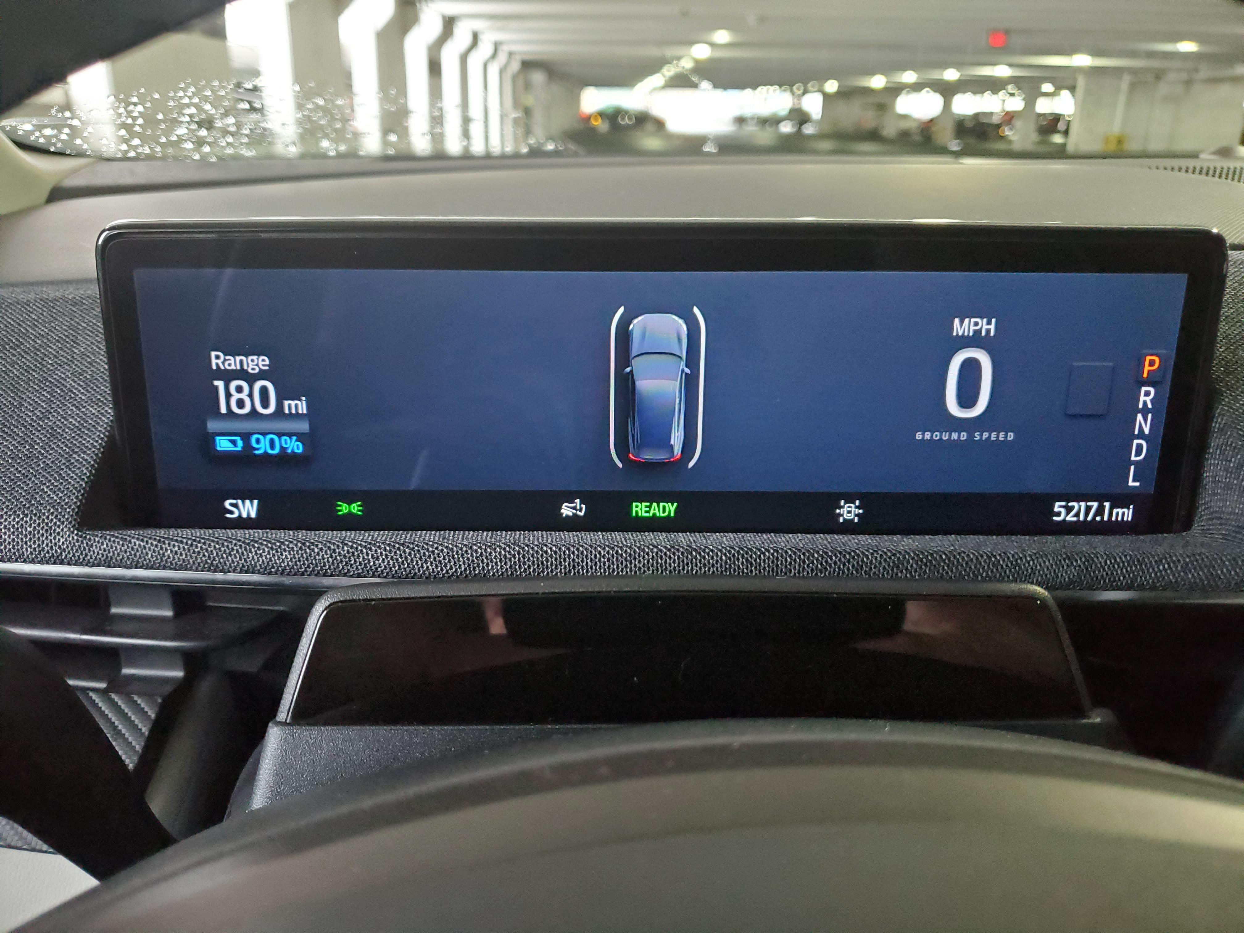 drivers gauge display on the Mache