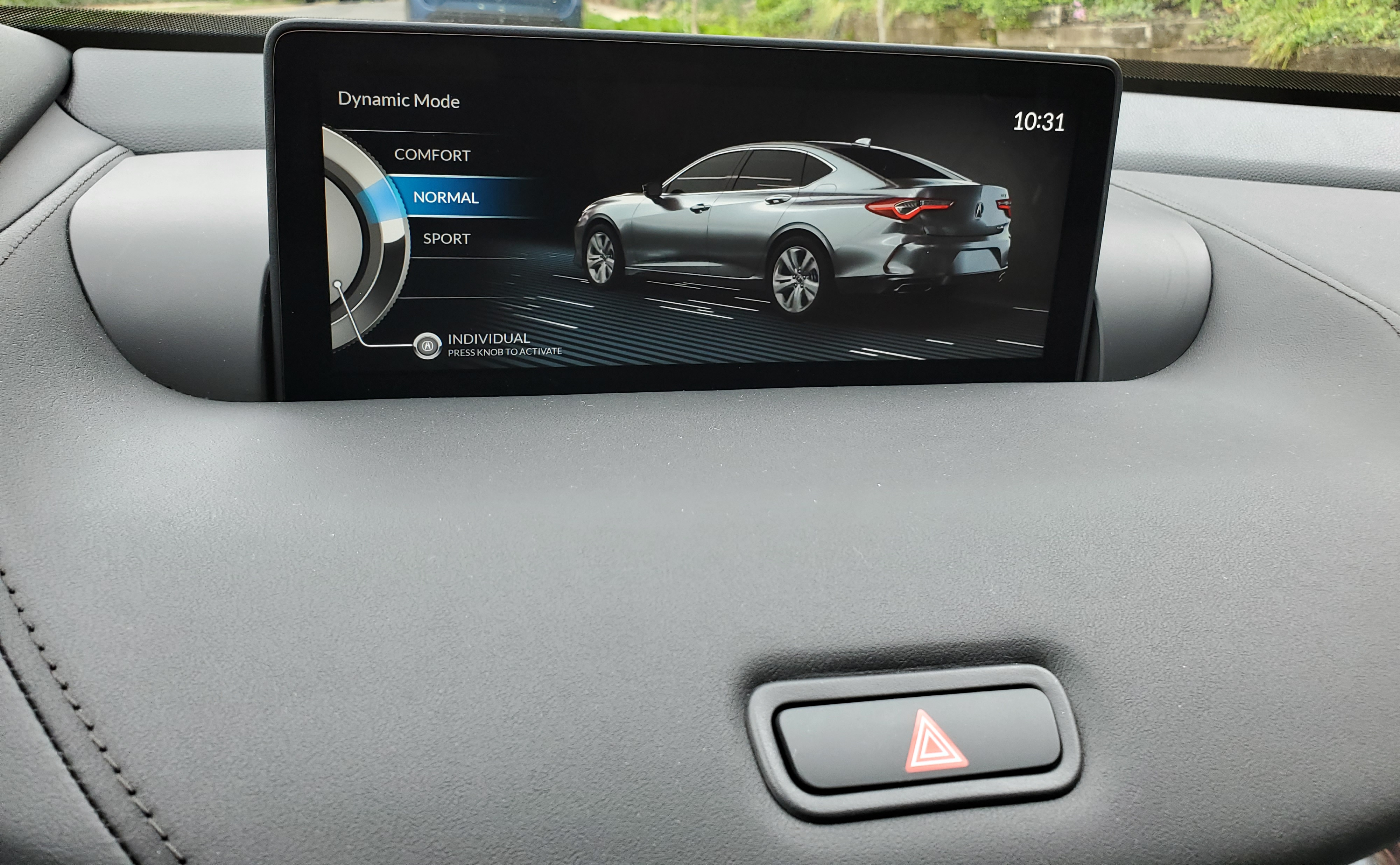 2021 Acura TLX Dynamic Normal Mode Display