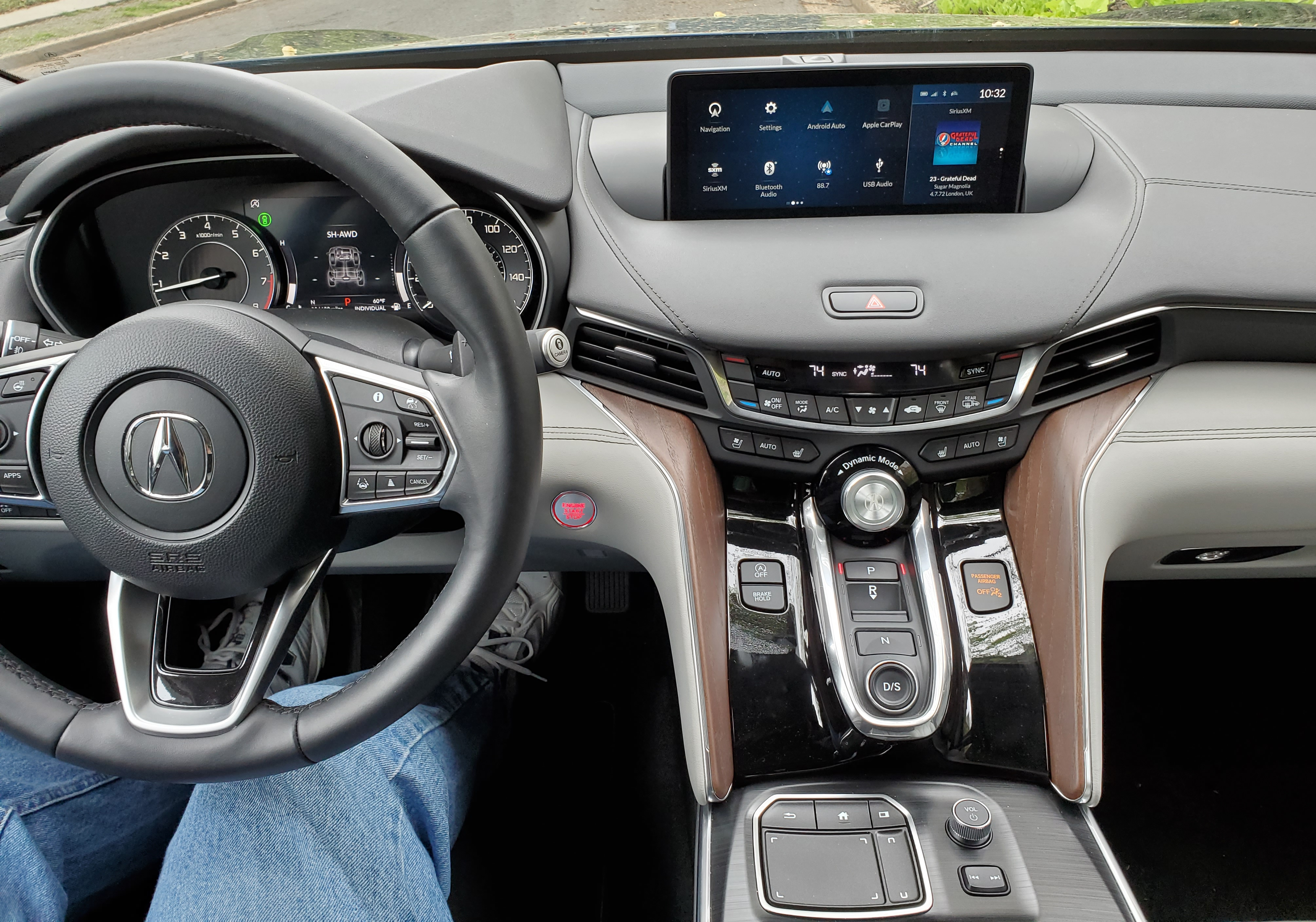 2021 Acura TLX Drivers Center Console view
