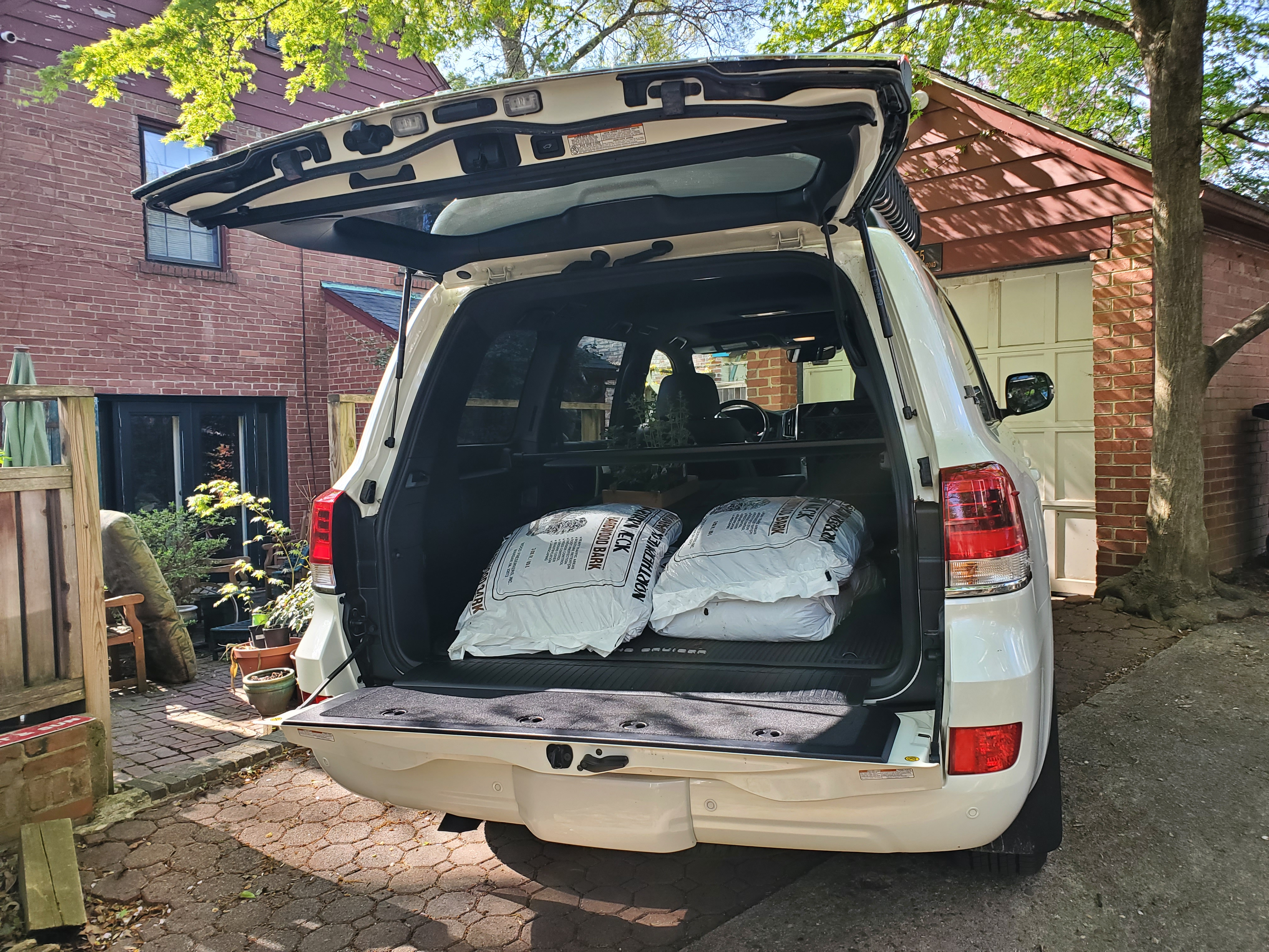 Land Cruiser's cargo area is large and quite useful