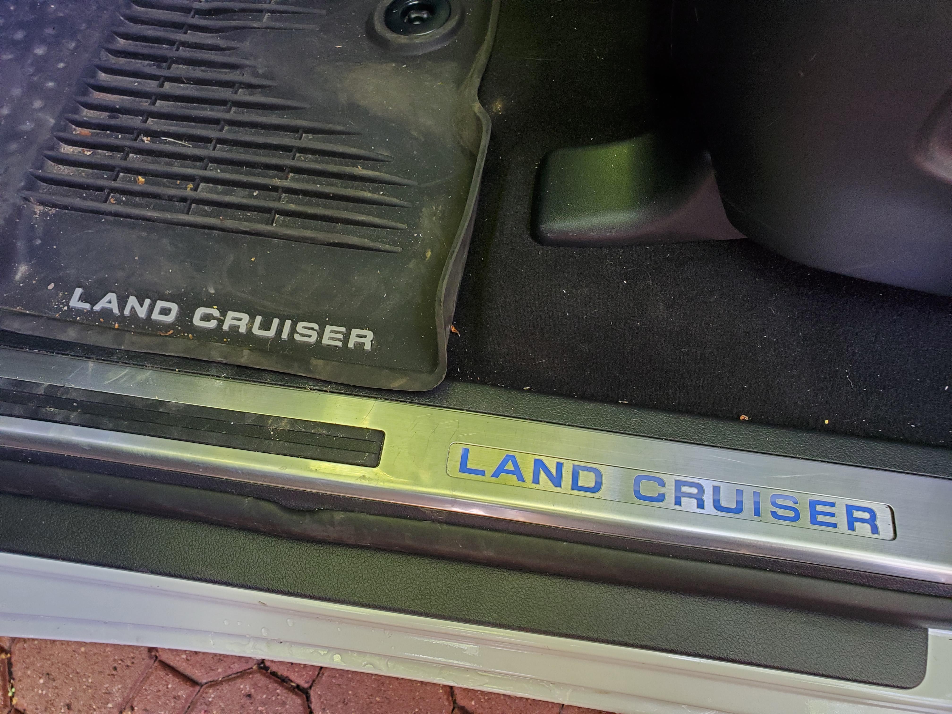Land Cruiser Logos on the door sills
